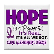 HOPE Alzheimer's Disease 1 Tile Coaster