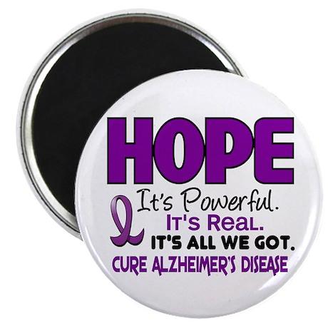 """HOPE Alzheimer's Disease 1 2.25"""" Magnet (100 pack)"""