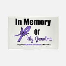 Alzheimer's Memory Grandma Rectangle Magnet