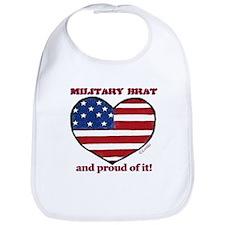 Military Brat Snap Bib