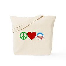 Peace Love Obama Tote Bag