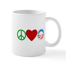Peace Love Obama Mug