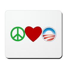 Peace Love Obama Mousepad