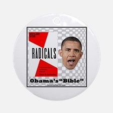 """Obama's Bible"" Ornament (Round)"