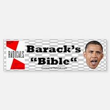 """""""Obama's Bible"""" Bumper Bumper Bumper Sticker"""