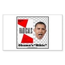 """Obama's Bible"" Rectangle Decal"
