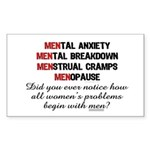 WoMEN Problem Rectangle Sticker