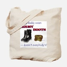 Army Boots Canvas Tote Bag