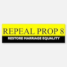 Repeal Prop 8 (Yellow) Bumper Bumper Bumper Sticker