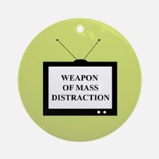 Weapon of Mass Distraction Ornament (Round)