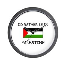 I'd rather be in Palestine Wall Clock