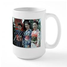 Japanese Geisha in kimono with obi Large Gift Mug