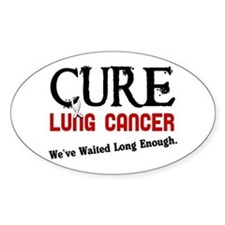 CURE Lung Cancer 3 Oval Decal