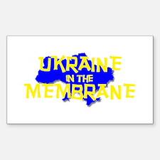 Ukraine in the Membrane Rectangle Sticker 50 pk)