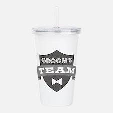 Banner Groom's Team Acrylic Double-wall Tumbler