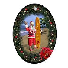 """Oval Ornament """"Mele Kalikimaka"""""""