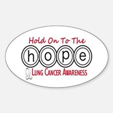 HOPE Lung Cancer 6 Oval Decal