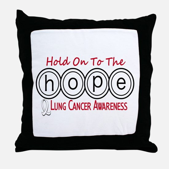 HOPE Lung Cancer 6 Throw Pillow