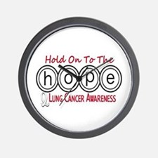 HOPE Lung Cancer 6 Wall Clock