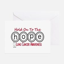 HOPE Lung Cancer 6 Greeting Card