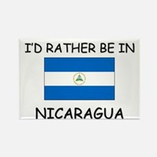 I'd rather be in Nicaragua Rectangle Magnet
