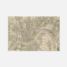 Vintage Map of Cincinnati Ohio (1915) Magnets