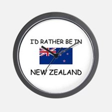 I'd rather be in New Zealand Wall Clock