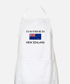 I'd rather be in New Zealand BBQ Apron