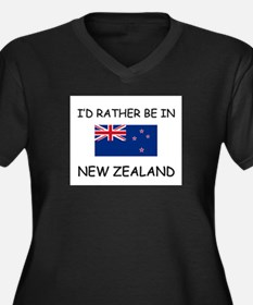 I'd rather be in New Zealand Women's Plus Size V-N
