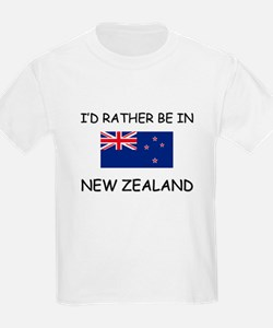 I'd rather be in New Zealand T-Shirt