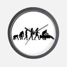 Oil Workers Wall Clock