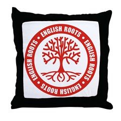 English Roots Throw Pillow