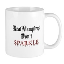 Real Vampires Don't Sparkle Small Mug