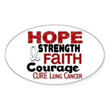 HOPE Lung Cancer 3 Oval Decal