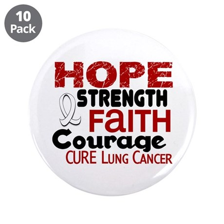 """HOPE Lung Cancer 3 3.5"""" Button (10 pack)"""