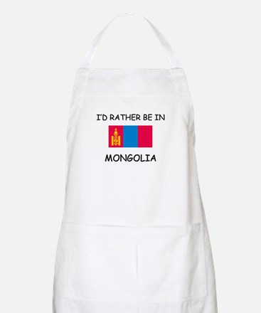 I'd rather be in Mongolia BBQ Apron