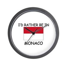 I'd rather be in Monaco Wall Clock