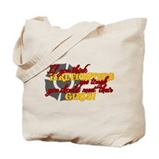 Cute Love my fireman Tote Bag