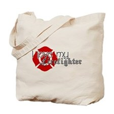 Cute Fireman fiancee Tote Bag