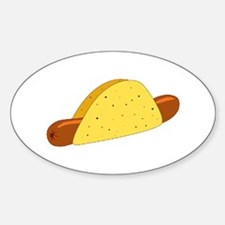 Taco / Weiner Oval Decal
