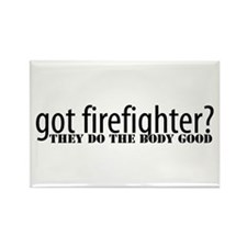 Cute Proud girlfriend of a firefighter Rectangle Magnet