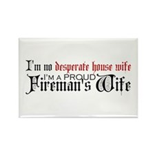 Funny Firefighters girlfriend Rectangle Magnet