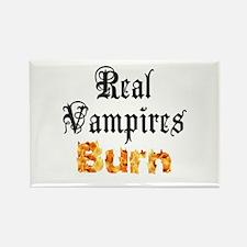 Real Vampires Burn Rectangle Magnet