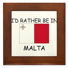 I'd rather be in Malta Framed Tile