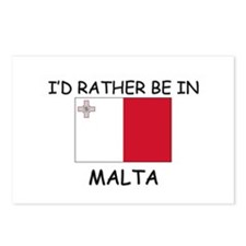 I'd rather be in Malta Postcards (Package of 8)