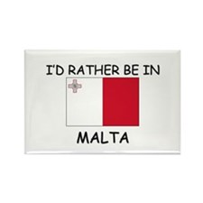 I'd rather be in Malta Rectangle Magnet (10 pack)