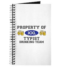 Property of Typist Drinking Team Journal