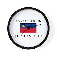 I'd rather be in Liechtenstein Wall Clock