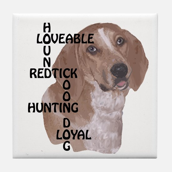 redtick hound crossword Tile Coaster