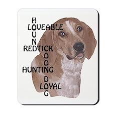redtick hound crossword Mousepad